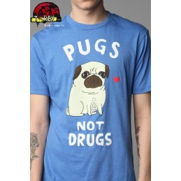 Camisa Pugs not Drugs